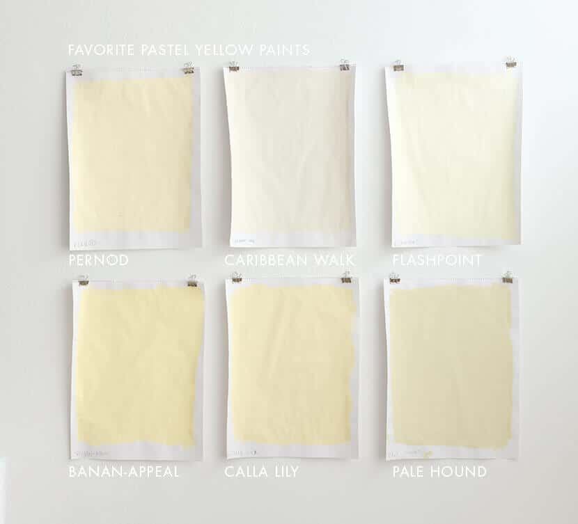FAVORITE PASTEL YELLOW PAINTS