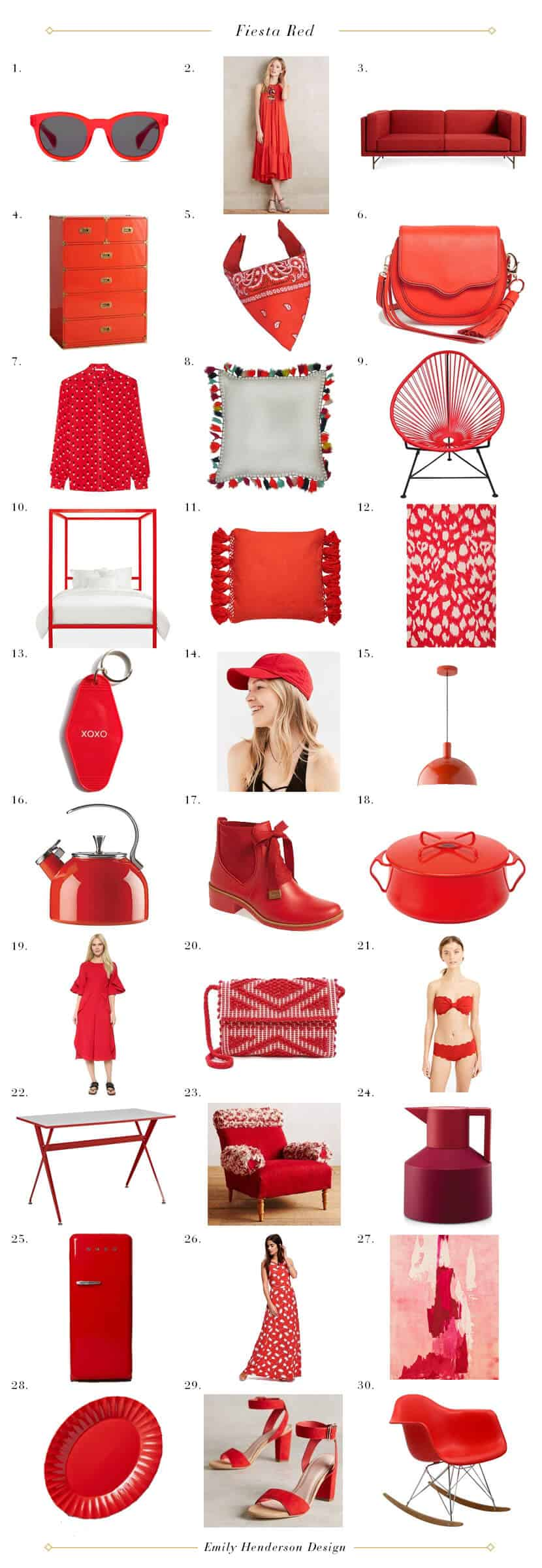 Fiesta Red Color Trends Red Housewares Fashion Accessories grid
