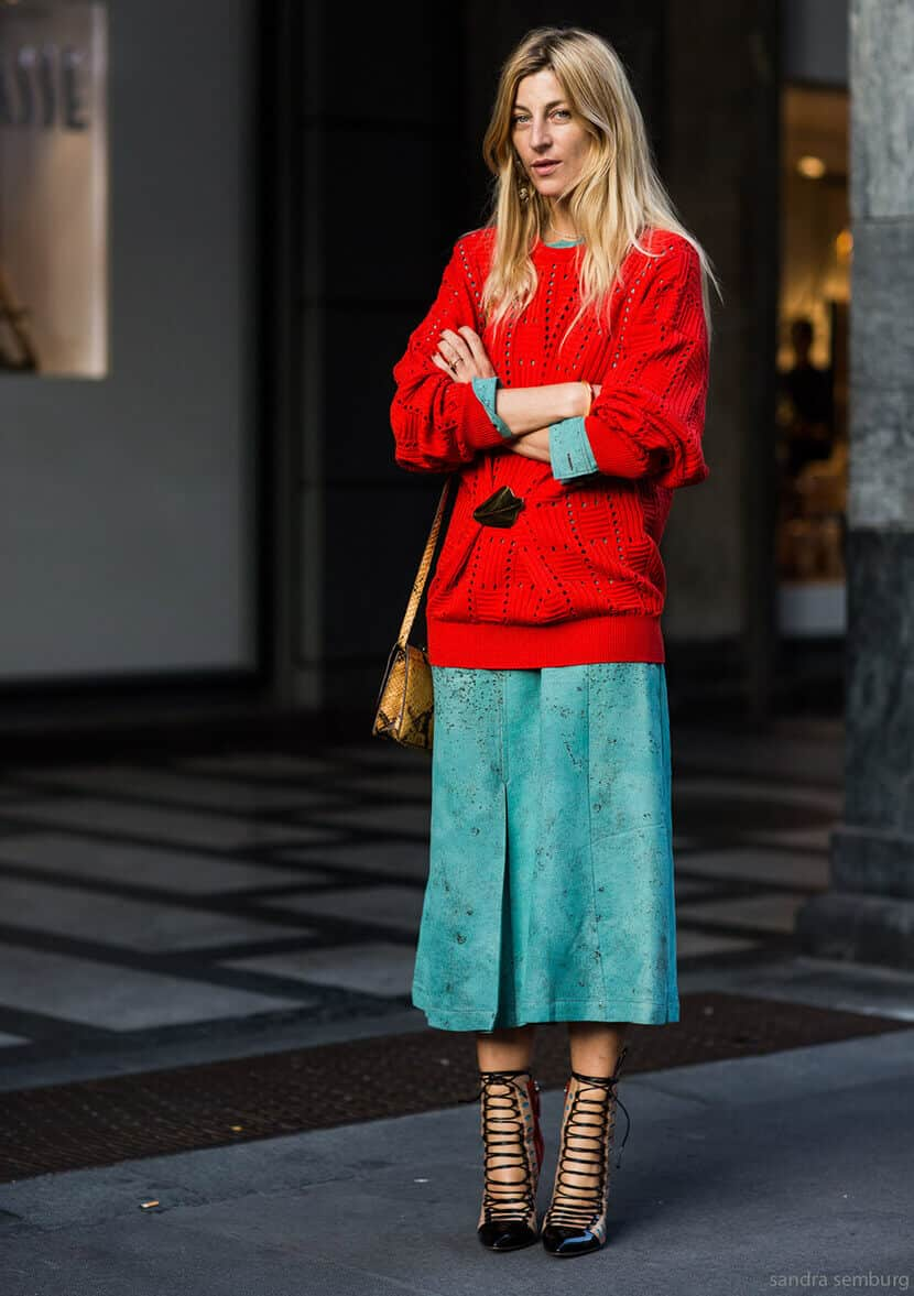 Teal And Red Fashion Combination