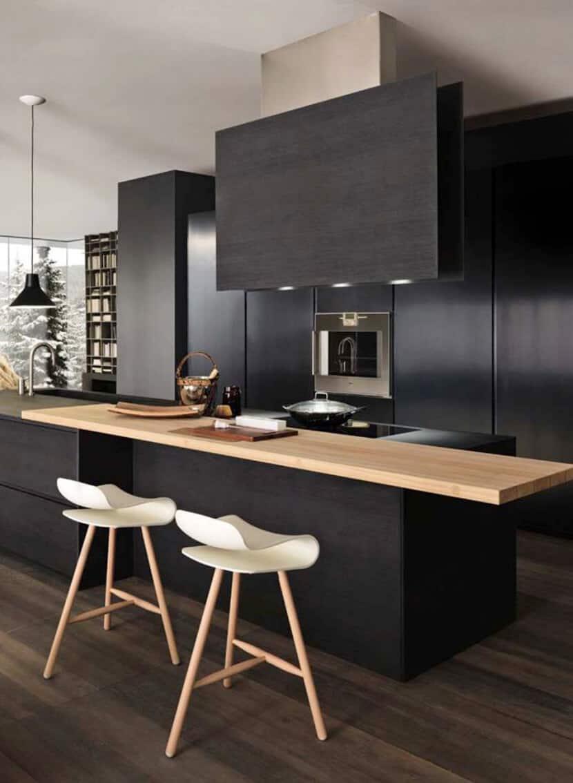 Zen Kitchen Accessories Dramatic Black Wood