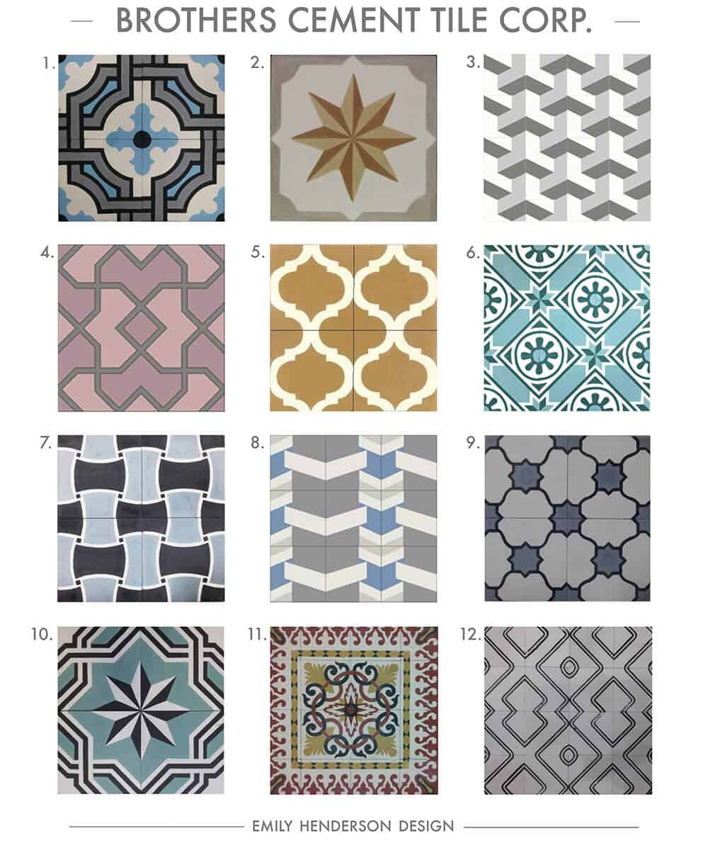 Cement Tile RoundUp Brothers Cement Tile Corp Patterned Tiles Emily Henderson