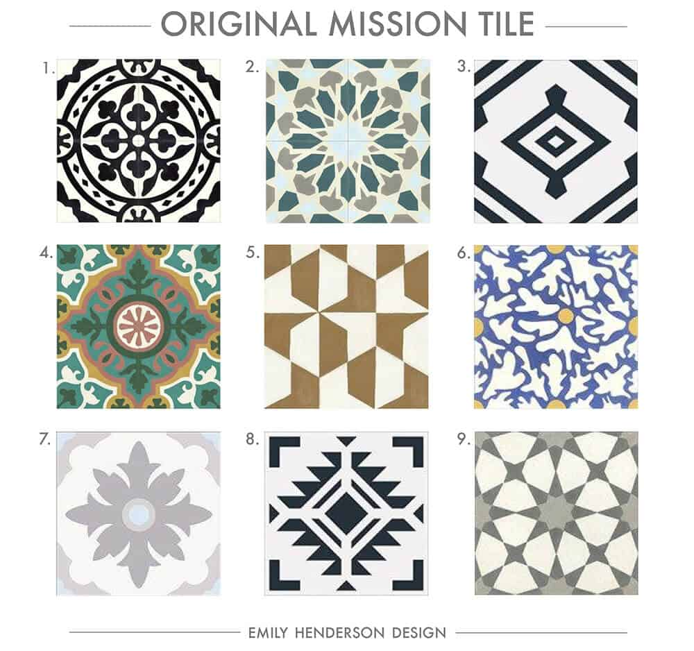 Cement Tile RoundUp Original Mission Tile Patterned Tiles Emily Henderson