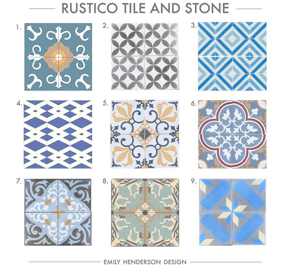 Cement Tile RoundUp Rustico Tile and Stone Patterned Tiles Emily Henderson