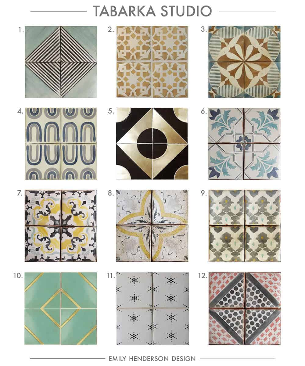 Cement Tile RoundUp Tabarka Studio Patterned Tiles Emily Henderson