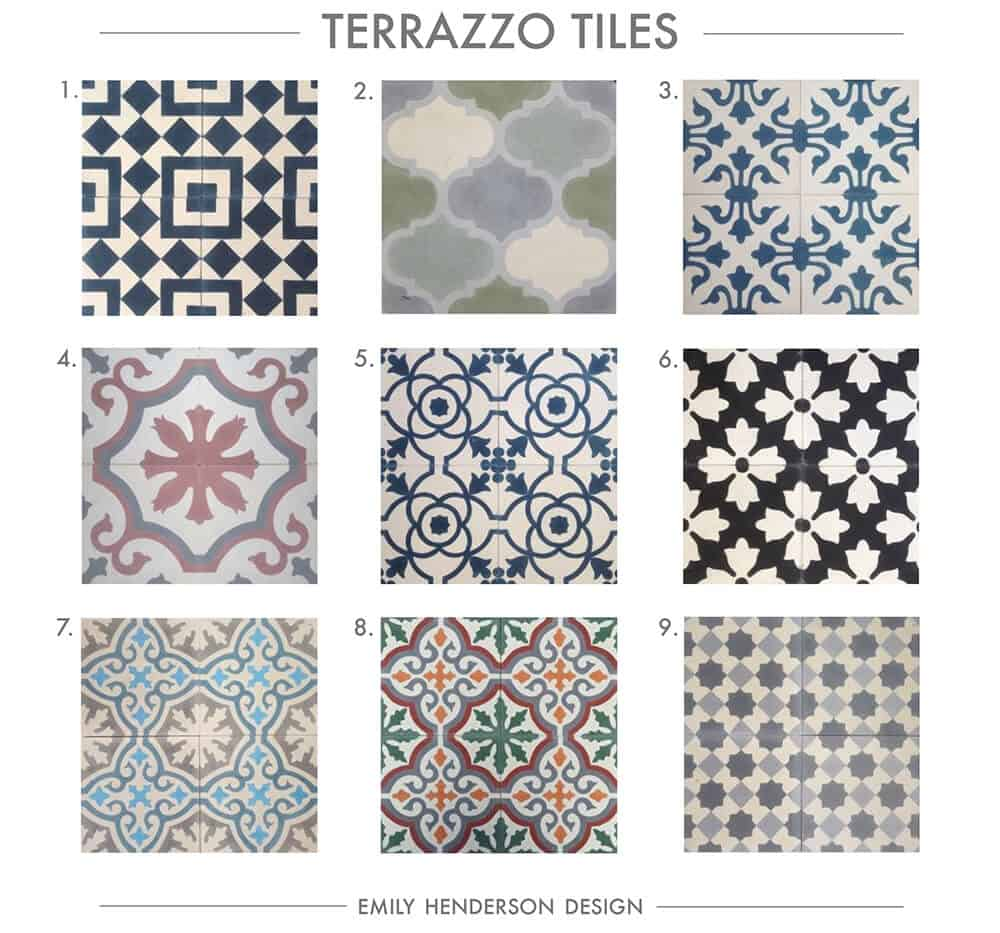 Cement Tile RoundUp Terrazzo Tiles Patterned Tiles Emily Henderson