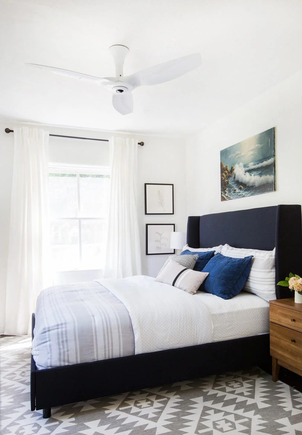Haiku Fan Guest Bedroom Interior Makeover-2