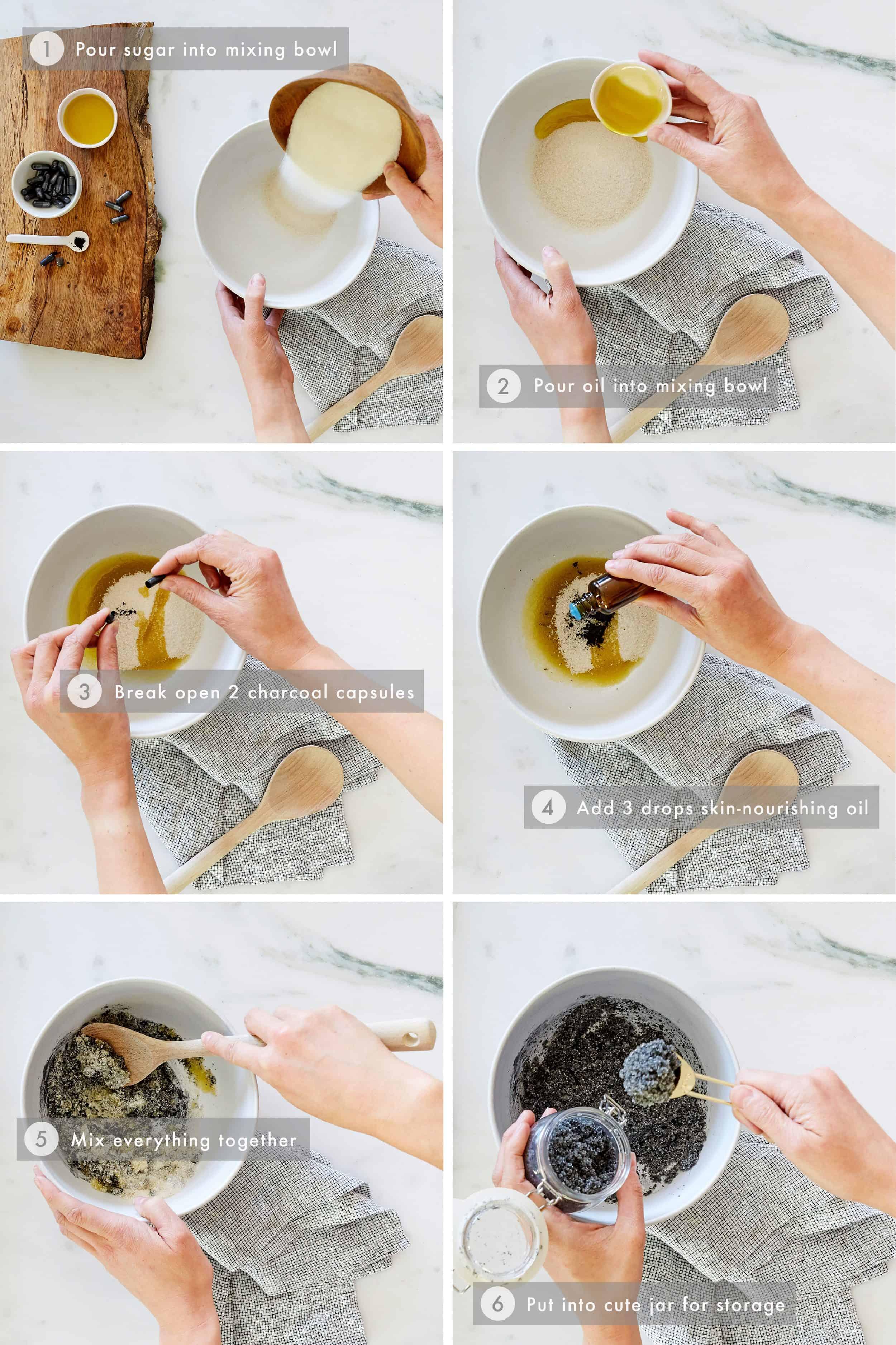 DIY Charcoal Face Scrub Step-by-Step