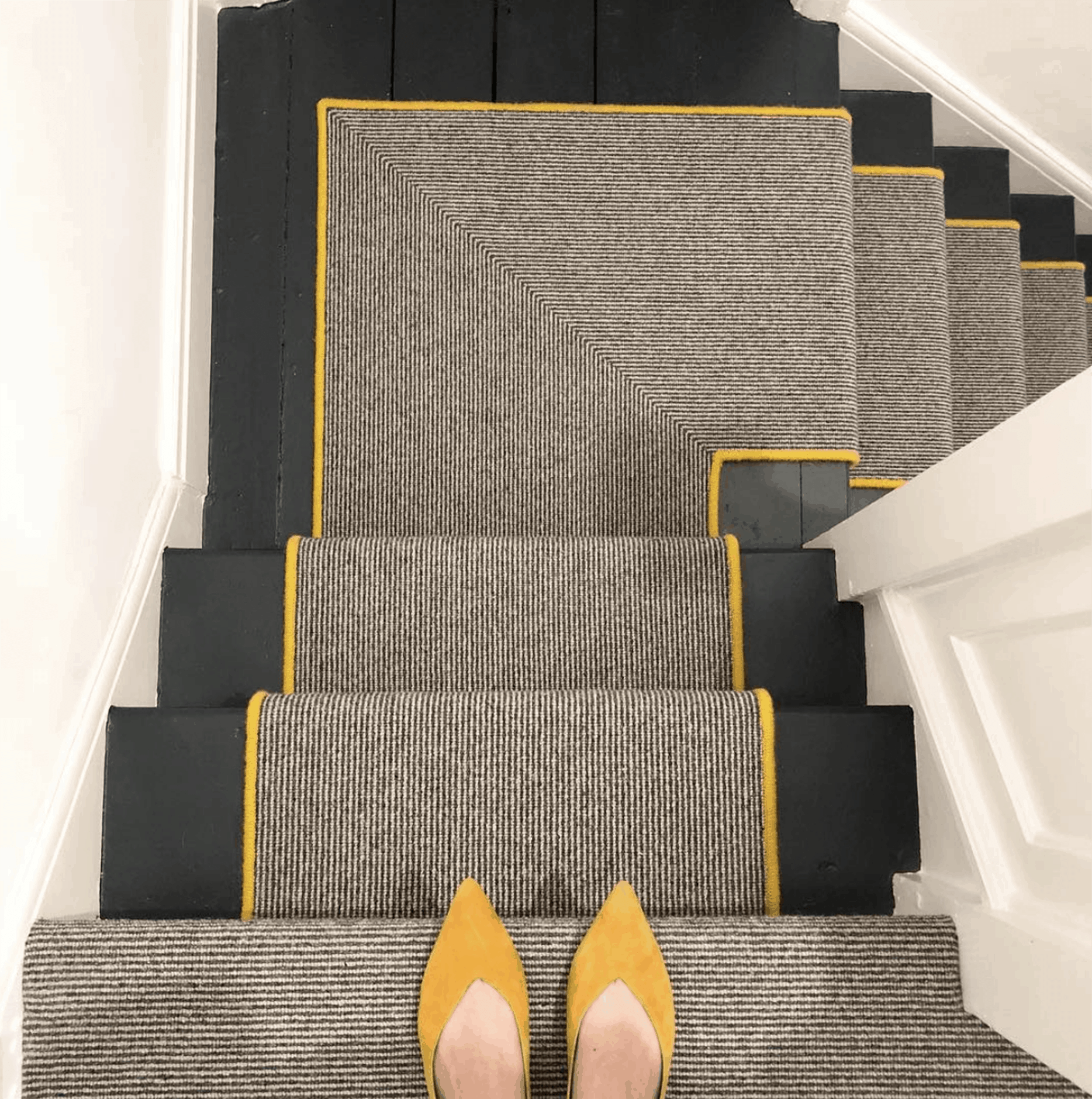 Should I Add A Carpet Or Rug Runner To My Mountain House Staircase | Flor Carpet Tiles For Stairs | Diy Stair | Carpet Runners | Rug | Flooring | Floor Tiles