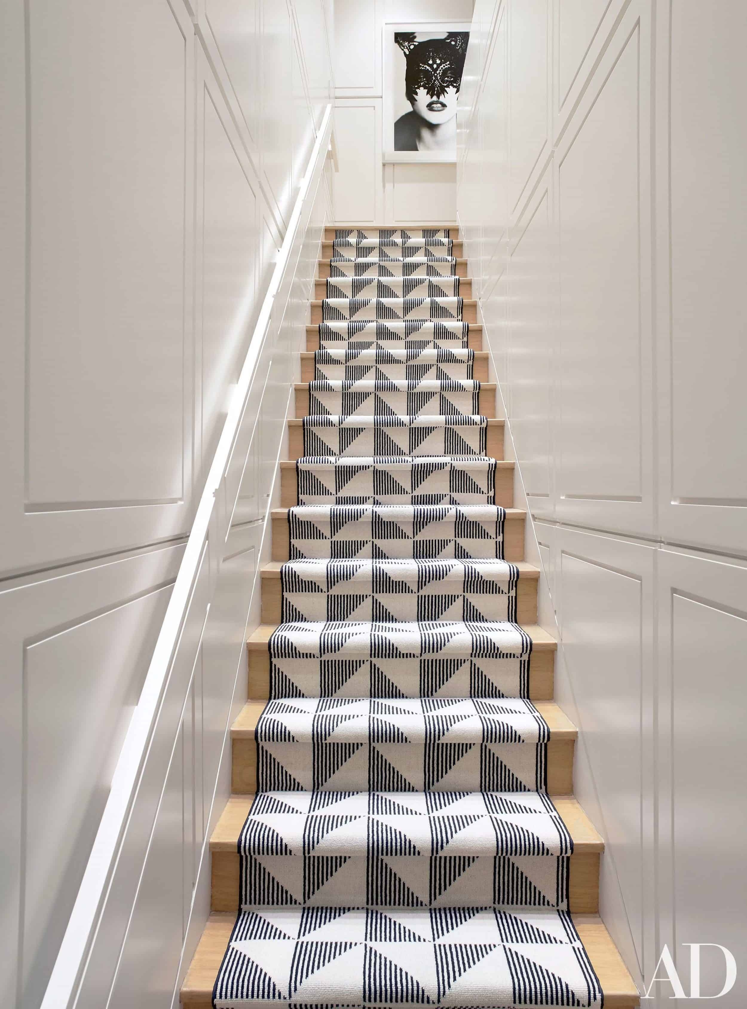 Should I Add A Carpet Or Rug Runner To My Mountain House Staircase   Carpet In Middle Of Stairs   Exposed Tread   Hardwood   Wood   Victorian   Popular