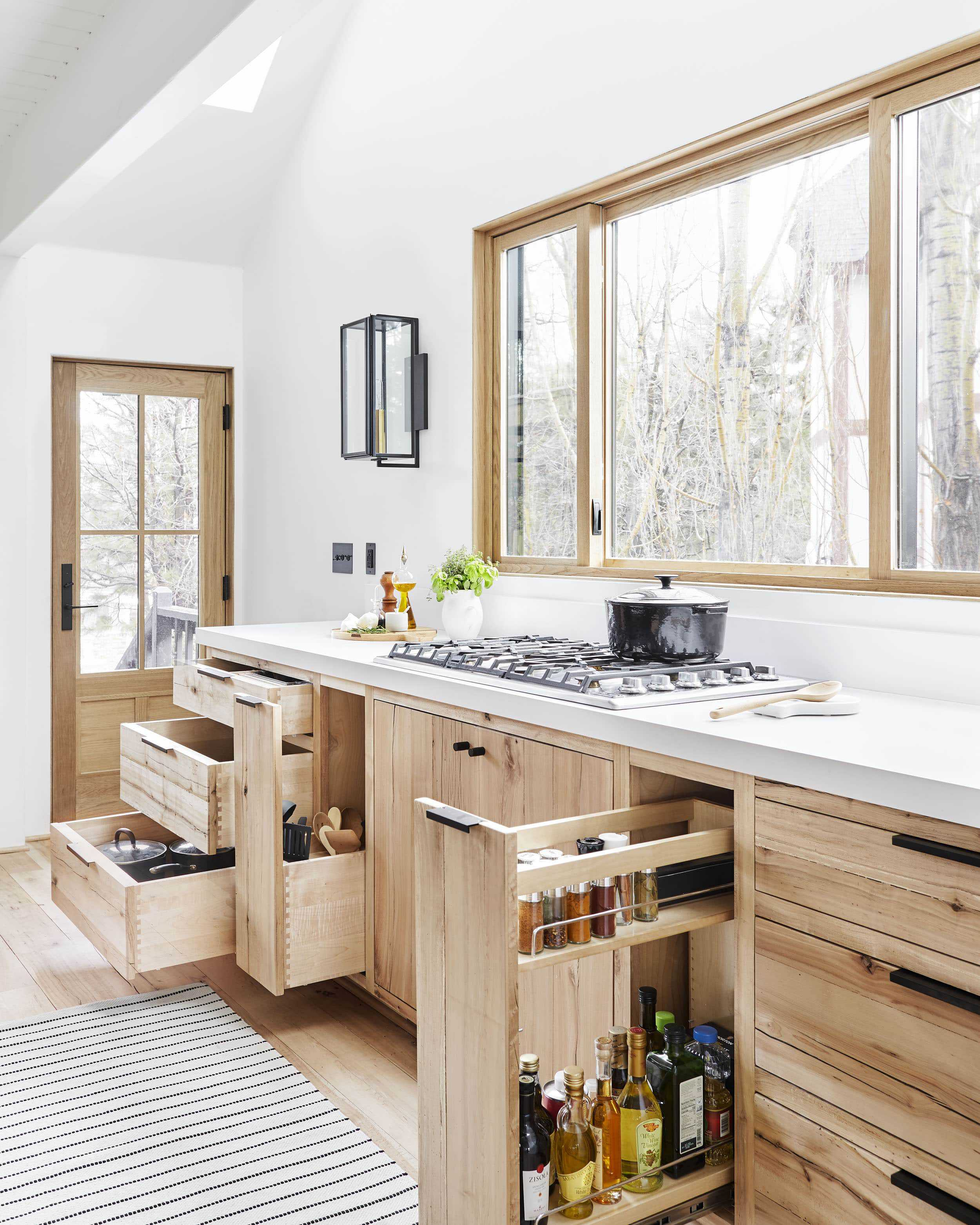 cabinets in the mountain house kitchen