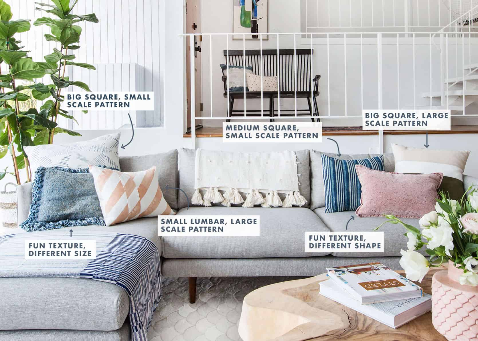 20 Very Affordable Pillow Combos Our 5 No Fail Combo Rules Emily Henderson