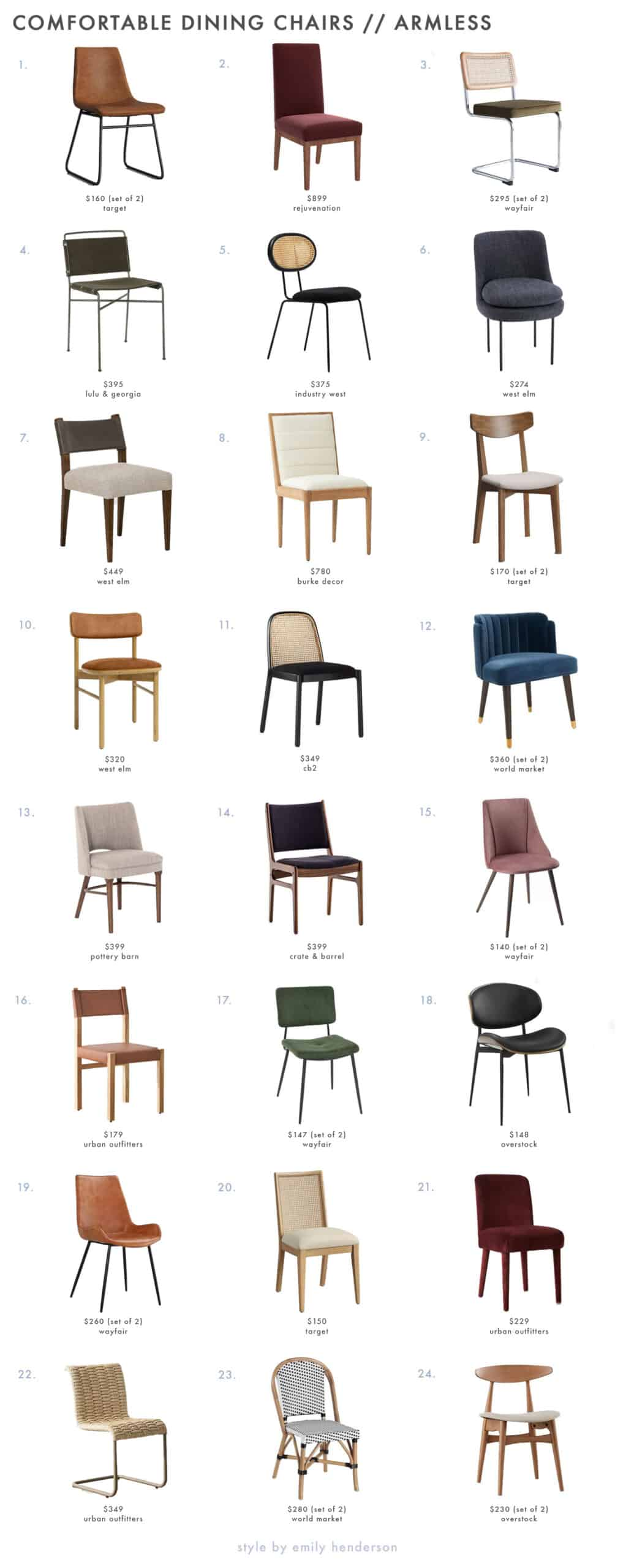 93 Dining Chairs That Meet All Your Comfort Needs Rules For Picking Them Out Emily Henderson