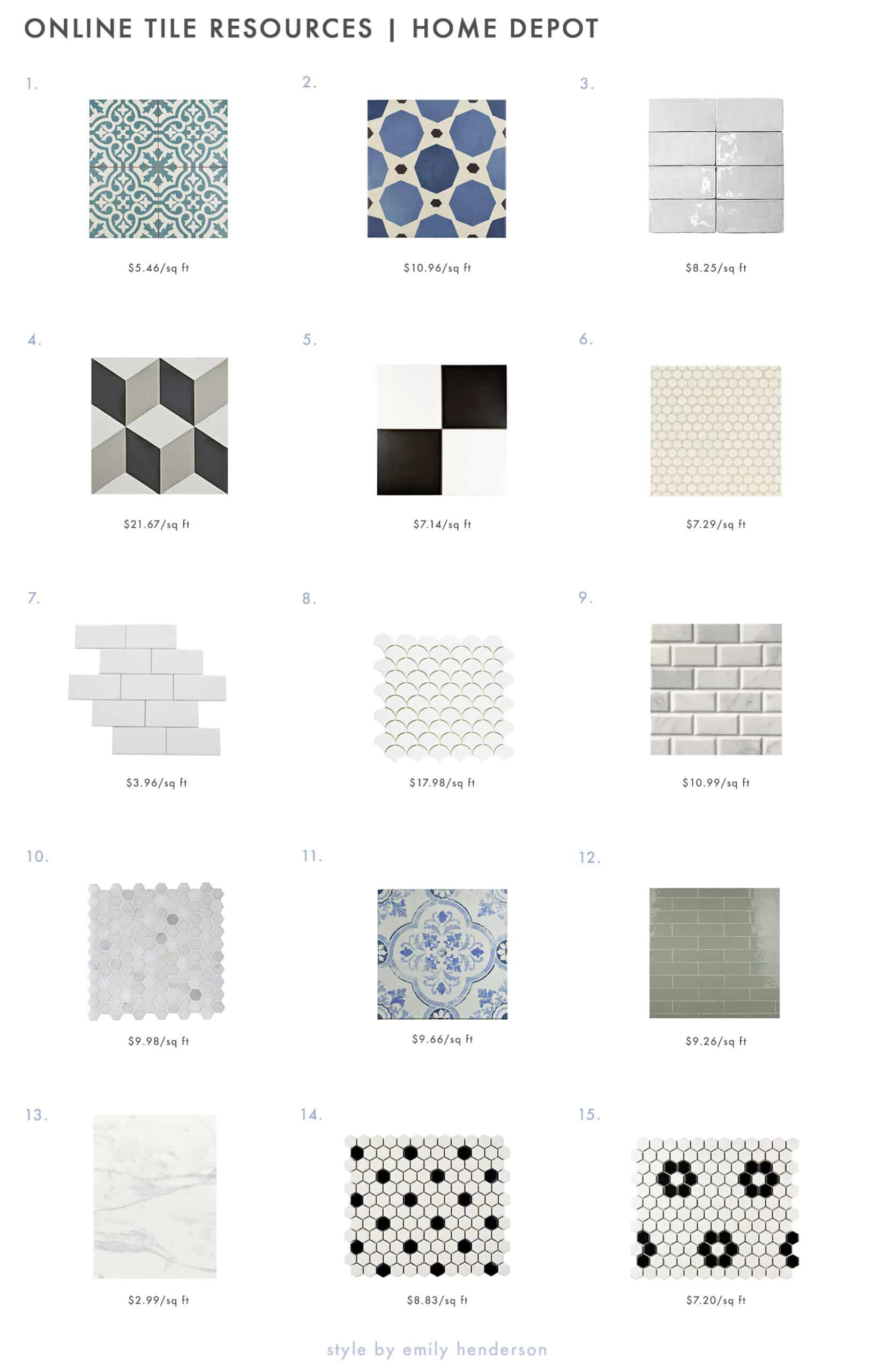 the 18 ehd go to online tile resources