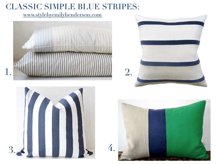 best striped pillows from etsy emily