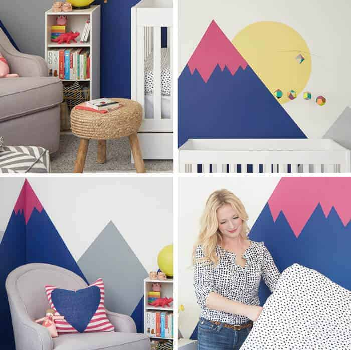 Joy Nursery_Emily Henderson_Wall Landscape Mural_sneak peek