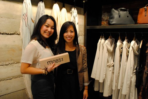 Risa and store manager Kimberly Pao