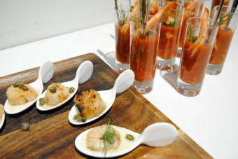 Exquisite hors d'oeuvres by Taste to Savour Catering