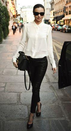 white-shirt-leather-leggings