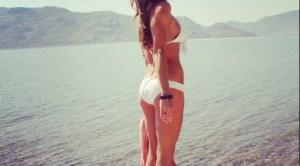 KimXO Beach Outfit