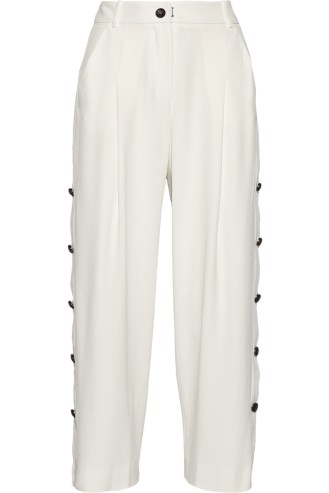 MAIYETCropped crepe wide-leg pants stylecabin