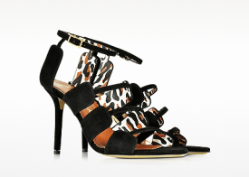 Meryl Black Suede Sandal heels for women