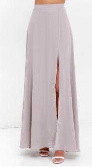 Seaside Soiree Taupe Maxi Skirt women clothing stores