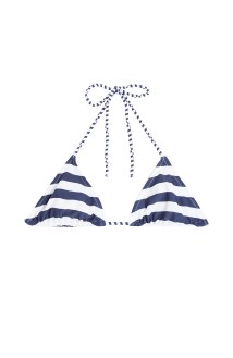Zoe Karssen Printed triangle bikini top stylecabin stripes nautical