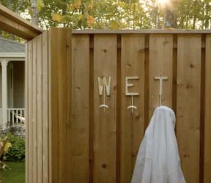 An Outdoor Shower