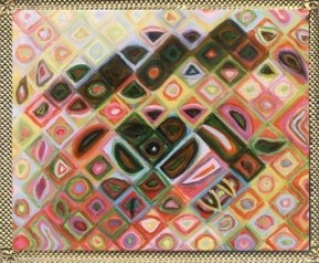 Lover's Eye- Inka (after Chuck Close