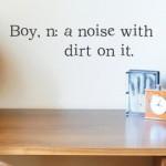 Saturday Say It: Boys