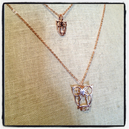 ROSE GOLD OWL CHARMS