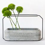 Sunday Bouquet: Green Poms in Concrete