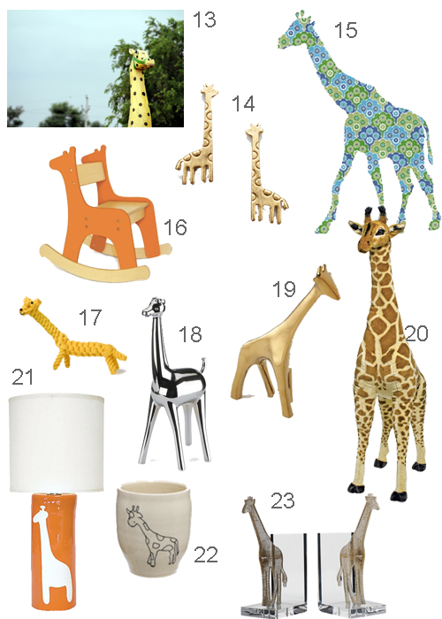 Giraffe Decal Lamp Bookend Earrings