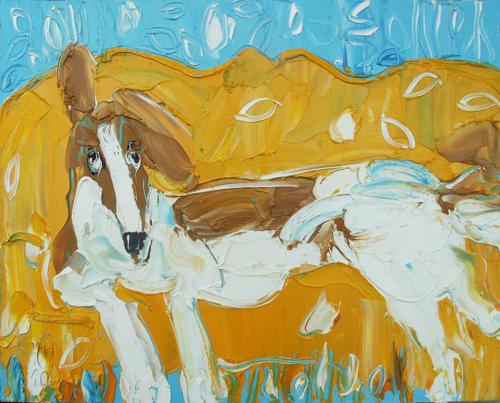 Sergei Kotinov Dog on Sofa Painting Saatchi