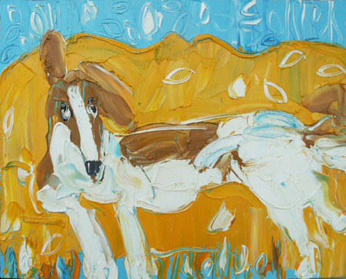 Sergei Kotinov Dog on Sofa Painting Saatchi