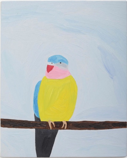 Tropical Bird Oil Painting