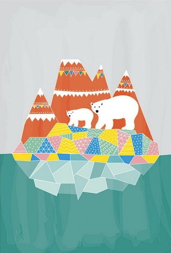 Dekanimal polar bear iceberg geo