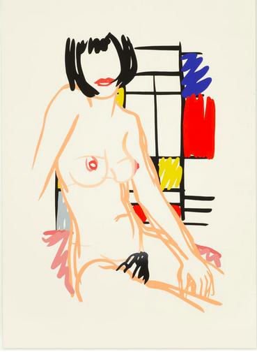 Tom-Wesselmann-Monica-Nude-with-Mondrian-1989