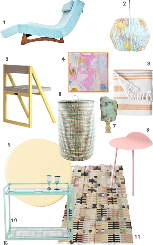 Pastel Furniture Home Accessories Decor