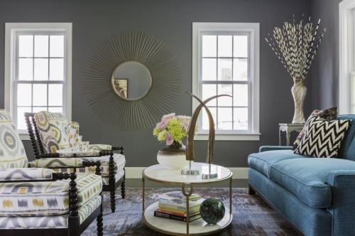 Living Room Designed By Color Theory