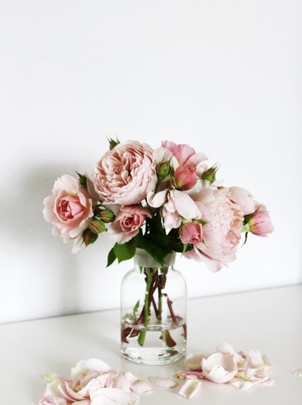 Flowers English Roses Clear Jug