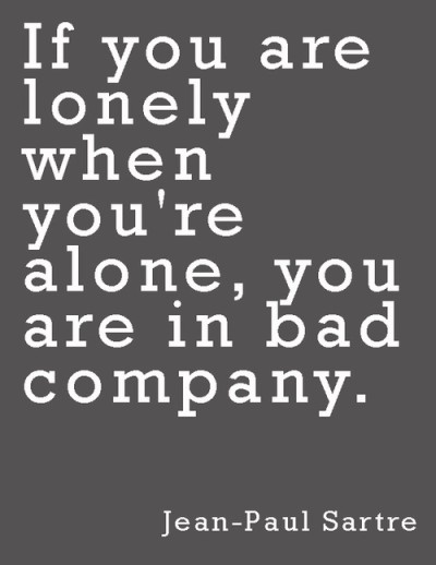 Jean Paul Sartre Quote About Lonliness