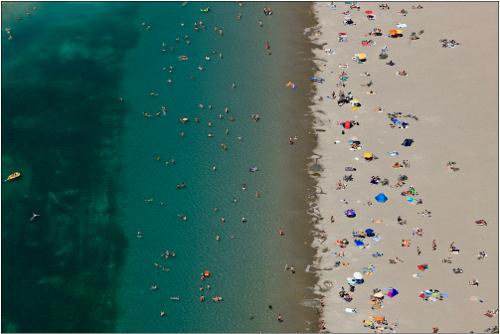 Contempop-Expressions-Galleries_Klaus-Leidorf_Aerial-Beach-I