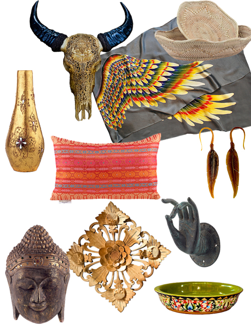 Buddha Ethnic Textiles Vintage Decorative Objeces