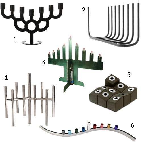 Menorahs Designed By Architects Concrete LED