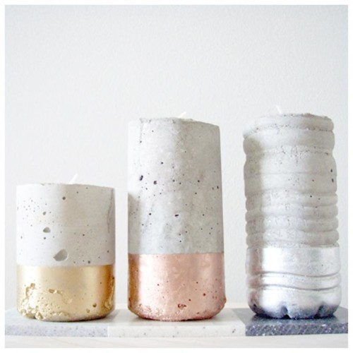 metal dipped concrete vessels