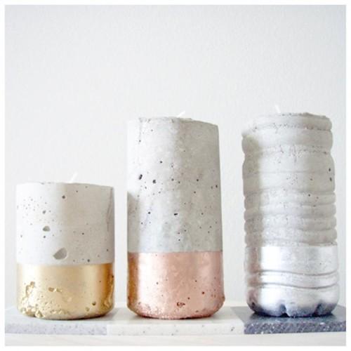 metal dipped concrete vessels