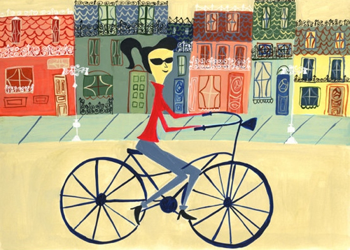 ride-in-bicycle-art