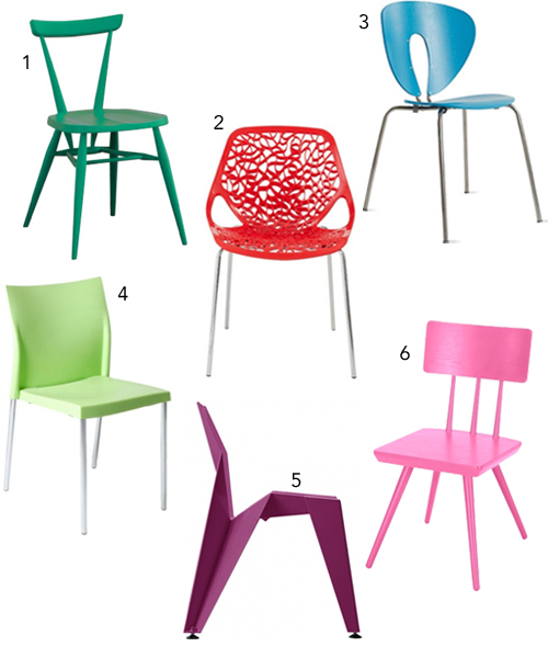 Colorful Dining Chair: Get The Look: 30 Colorful Dining Chairs
