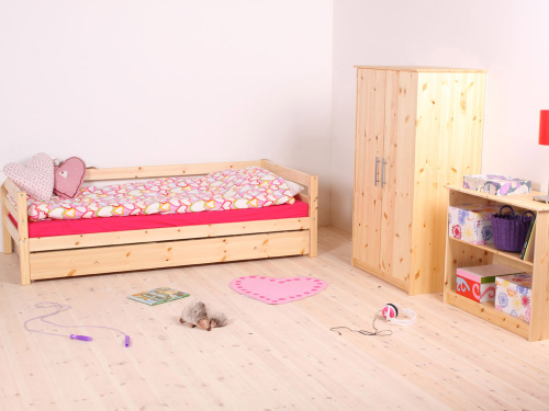 Girls Room With Unfinished Wood Furnishings. Childrenu0027s Furniture By Bedzrus